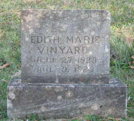 VINYARD, EDITH MARIE - Hamblen County, Tennessee | EDITH MARIE VINYARD - Tennessee Gravestone Photos