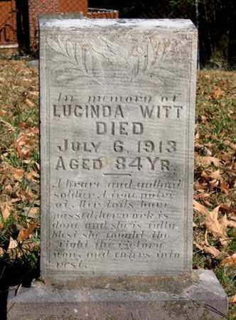 WITT, LUCINDA A. - Hamblen County, Tennessee | LUCINDA A. WITT - Tennessee Gravestone Photos