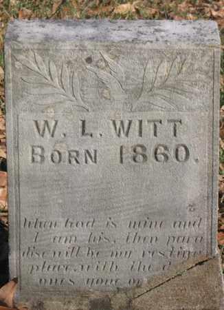 WITT, W. L. - Hamblen County, Tennessee | W. L. WITT - Tennessee Gravestone Photos