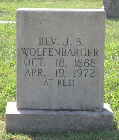 WOLFENBARGER, J.B. (REV.) - Hamblen County, Tennessee   J.B. (REV.) WOLFENBARGER - Tennessee Gravestone Photos