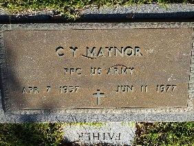 MAYNOR (VETERAN), C Y - Hamilton County, Tennessee | C Y MAYNOR (VETERAN) - Tennessee Gravestone Photos