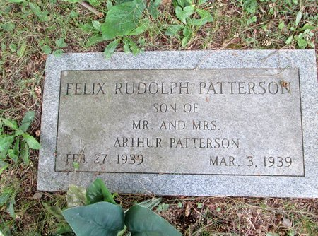 PATTERSON, FELIX RUDOLPH - Hamilton County, Tennessee | FELIX RUDOLPH PATTERSON - Tennessee Gravestone Photos