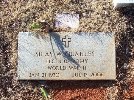 QUARLES (VETERAN WWII), SILAS W. - Hamilton County, Tennessee | SILAS W. QUARLES (VETERAN WWII) - Tennessee Gravestone Photos