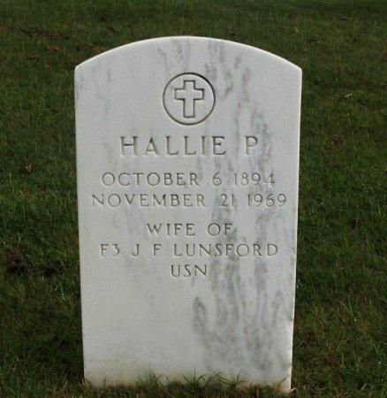 LUNSFORD, HALLIE P. - Hamilton County, Tennessee | HALLIE P. LUNSFORD - Tennessee Gravestone Photos