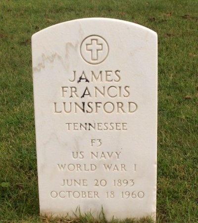 LUNSFORD (VETERAN WWI), JAMES FRANCIS - Hamilton County, Tennessee | JAMES FRANCIS LUNSFORD (VETERAN WWI) - Tennessee Gravestone Photos