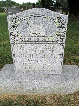 BOWLIN, BONNIE ANN - Hancock County, Tennessee | BONNIE ANN BOWLIN - Tennessee Gravestone Photos