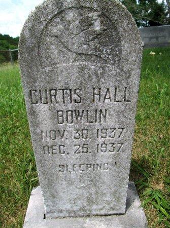 BOWLIN, CURTIS HALL - Hancock County, Tennessee   CURTIS HALL BOWLIN - Tennessee Gravestone Photos