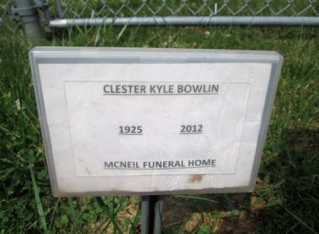 BOWLIN, CLESTER KYLE - Hancock County, Tennessee   CLESTER KYLE BOWLIN - Tennessee Gravestone Photos