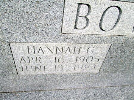 BOWLIN, HANNAH G. (CLOSE UP) - Hancock County, Tennessee | HANNAH G. (CLOSE UP) BOWLIN - Tennessee Gravestone Photos