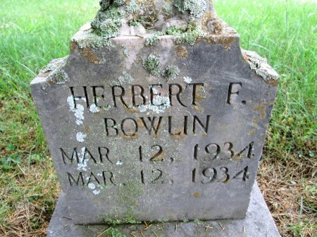 BOWLIN, HERBERT F. - Hancock County, Tennessee   HERBERT F. BOWLIN - Tennessee Gravestone Photos