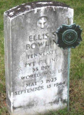 BOWLIN (VETERAN WWII), ELLIS S. - Hancock County, Tennessee | ELLIS S. BOWLIN (VETERAN WWII) - Tennessee Gravestone Photos