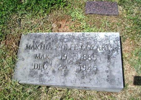 WOLFE COZART, MARTHA - Hancock County, Tennessee | MARTHA WOLFE COZART - Tennessee Gravestone Photos