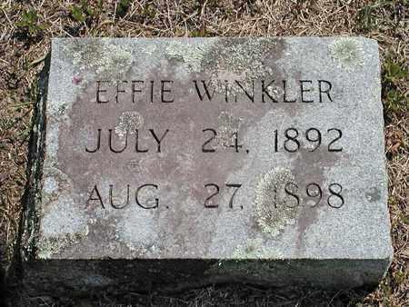 WINKLER, EFFIE - Hancock County, Tennessee | EFFIE WINKLER - Tennessee Gravestone Photos