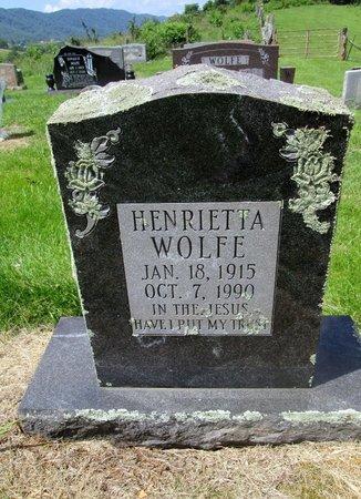 WOLFE, HENRIETTA - Hancock County, Tennessee | HENRIETTA WOLFE - Tennessee Gravestone Photos
