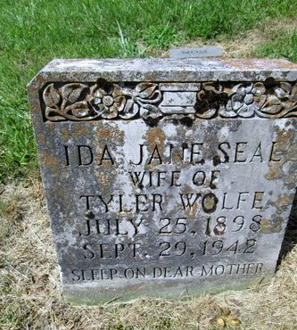 SEAL WOLFE, IDA JANE - Hancock County, Tennessee | IDA JANE SEAL WOLFE - Tennessee Gravestone Photos