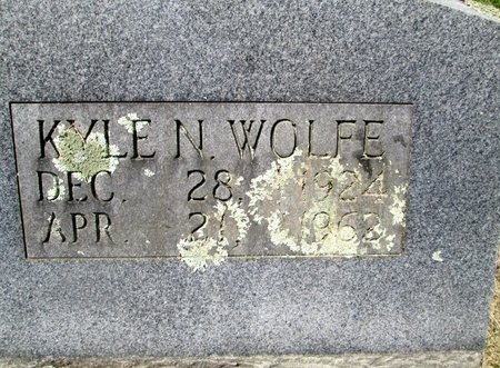 WOLFE, KYLE N. - Hancock County, Tennessee | KYLE N. WOLFE - Tennessee Gravestone Photos