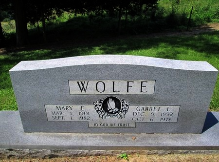 WOLFE, MARY E. - Hancock County, Tennessee | MARY E. WOLFE - Tennessee Gravestone Photos
