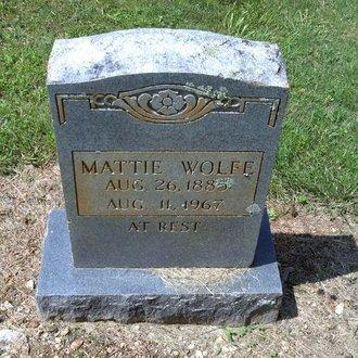 WOLFE, MATTIE - Hancock County, Tennessee   MATTIE WOLFE - Tennessee Gravestone Photos