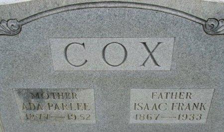 PARSONS COX, ADA PARLEE - Hardeman County, Tennessee | ADA PARLEE PARSONS COX - Tennessee Gravestone Photos