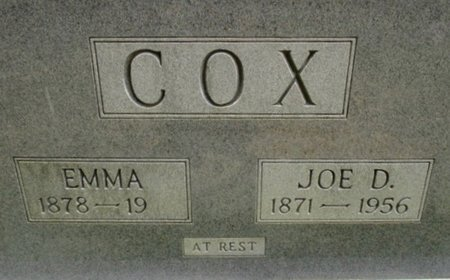 COX, JOE D. - Hardeman County, Tennessee | JOE D. COX - Tennessee Gravestone Photos