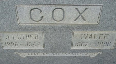 CRAWFORD COX, IVALEE - Hardeman County, Tennessee | IVALEE CRAWFORD COX - Tennessee Gravestone Photos