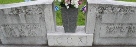COX, WILLIAM PRESTON - Hardeman County, Tennessee | WILLIAM PRESTON COX - Tennessee Gravestone Photos