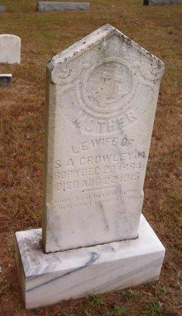 CROWLEY, L. E. - Hardeman County, Tennessee   L. E. CROWLEY - Tennessee Gravestone Photos