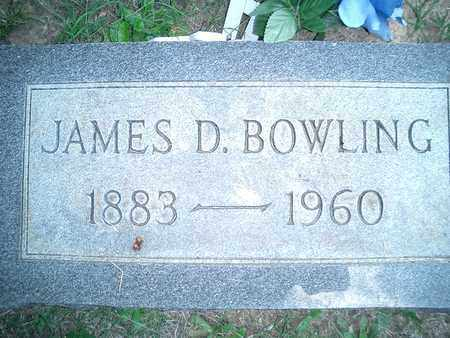 BOWLING, JAMES DUDLEY - Hardin County, Tennessee | JAMES DUDLEY BOWLING - Tennessee Gravestone Photos