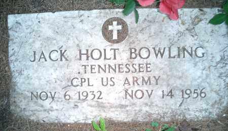 BOWLING (VETERAN), JACK HOLT - Hardin County, Tennessee   JACK HOLT BOWLING (VETERAN) - Tennessee Gravestone Photos