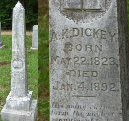 DICKEY, ALEXANDER K - Hardin County, Tennessee | ALEXANDER K DICKEY - Tennessee Gravestone Photos