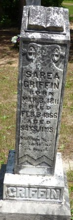GRIFFIN, SAREA - Hardin County, Tennessee | SAREA GRIFFIN - Tennessee Gravestone Photos