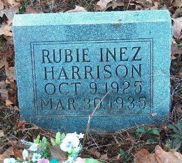 HARRISON, RUBIE INEZ - Hardin County, Tennessee | RUBIE INEZ HARRISON - Tennessee Gravestone Photos