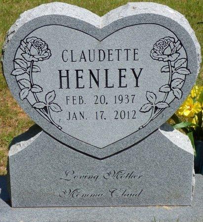 HENLEY, CLAUDETTE - Hardin County, Tennessee   CLAUDETTE HENLEY - Tennessee Gravestone Photos