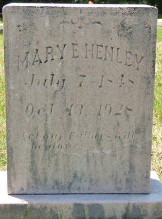 HENLEY, MARY E - Hardin County, Tennessee | MARY E HENLEY - Tennessee Gravestone Photos
