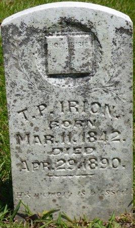 IRION, THOMAS P - Hardin County, Tennessee   THOMAS P IRION - Tennessee Gravestone Photos