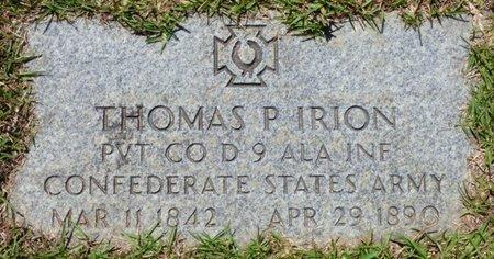IRION (VETERAN CSA), THOMAS P - Hardin County, Tennessee | THOMAS P IRION (VETERAN CSA) - Tennessee Gravestone Photos
