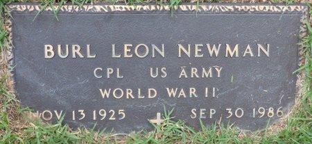 NEWMAN (VETERAN WWII), BURL LEON - Hardin County, Tennessee | BURL LEON NEWMAN (VETERAN WWII) - Tennessee Gravestone Photos