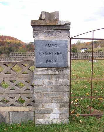*AMYX CEMETERY SIGN,  - Hawkins County, Tennessee |  *AMYX CEMETERY SIGN - Tennessee Gravestone Photos