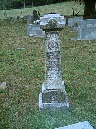 CHRISTIAN, DAVID LYONS - Hawkins County, Tennessee | DAVID LYONS CHRISTIAN - Tennessee Gravestone Photos