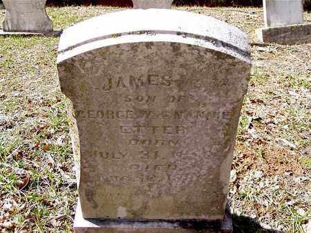 ETTER, JAMES G. - Hawkins County, Tennessee | JAMES G. ETTER - Tennessee Gravestone Photos