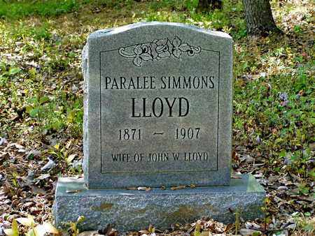 SIMMONS LLOYD, PARALEE - Hawkins County, Tennessee | PARALEE SIMMONS LLOYD - Tennessee Gravestone Photos