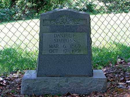 SIMMONS, DANIEL F. - Hawkins County, Tennessee | DANIEL F. SIMMONS - Tennessee Gravestone Photos