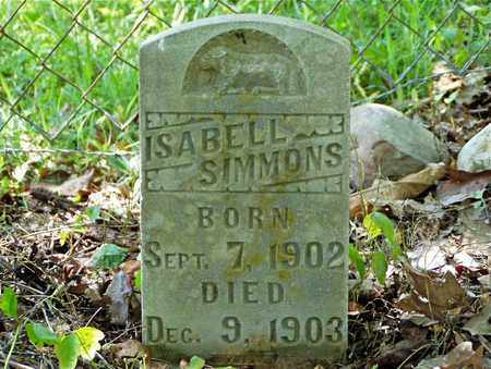 SIMMONS, ISABELL - Hawkins County, Tennessee | ISABELL SIMMONS - Tennessee Gravestone Photos