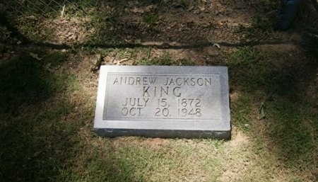 KING, ANDREW JACKSON - Haywood County, Tennessee | ANDREW JACKSON KING - Tennessee Gravestone Photos