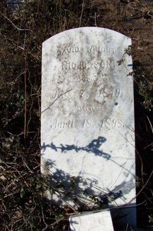 NICHOLSON, DAVID WRIGHT - Haywood County, Tennessee   DAVID WRIGHT NICHOLSON - Tennessee Gravestone Photos
