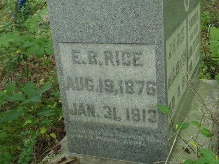 RICE, E. BLAIR - Haywood County, Tennessee | E. BLAIR RICE - Tennessee Gravestone Photos
