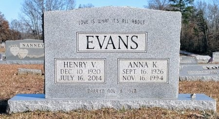 EVANS, ANNA K. - Henry County, Tennessee | ANNA K. EVANS - Tennessee Gravestone Photos