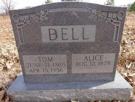 BELL, ALICE - Hickman County, Tennessee | ALICE BELL - Tennessee Gravestone Photos