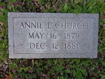 CHURCH, ANNIE E - Hickman County, Tennessee   ANNIE E CHURCH - Tennessee Gravestone Photos