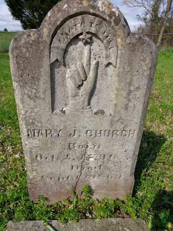 EMMONS CHURCH, MARY JONES - Hickman County, Tennessee | MARY JONES EMMONS CHURCH - Tennessee Gravestone Photos